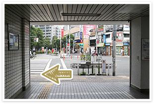 用賀駅からの道順2